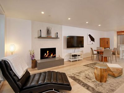 Photo for Cool, Quiet & Contemporary Aspen Condo. Outdoor Pool & HT. Free Parking, Wood FP,  3 Blks To Town