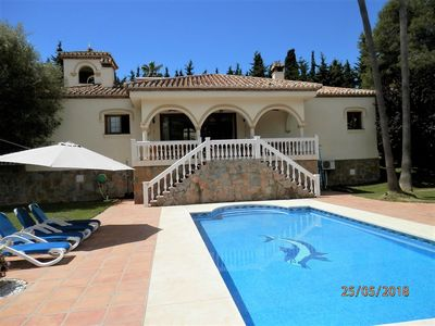 Photo for Lovely 5 Bedroom 5 Full Bathroom  Villa, Private Pool &  Garden. 4 mins to Beach