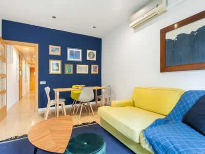 Photo for Recently renovated, 3-bedroom apartment in the center of Barceloneta