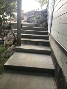 Stairs from private entrance