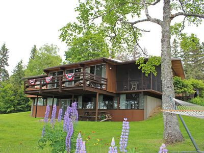 Photo for Gorgeous home on Rangeley Lake with westerly sunset views