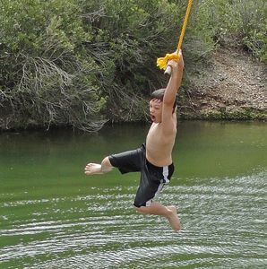 Rope swing fun for hours of fun!