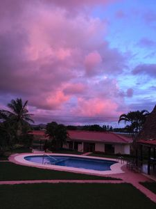 Beautiful sunset sky as seen from the balcony of Casa Sirena.