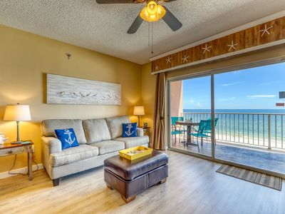 Photo for Waterfront getaway w/ gorgeous beach views & an outdoor pool!