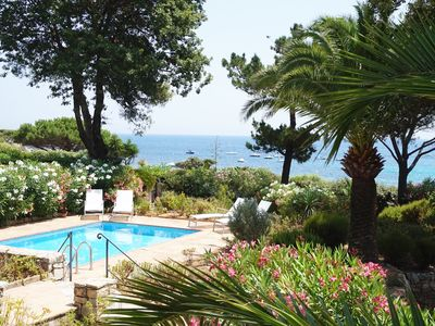 Photo for Saint-Tropez, Ocean Front villa with direct access to the beach