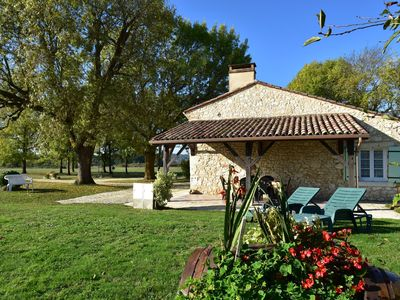 Photo for Rural home near Bergerac (8 km) with magnificent views and large playground