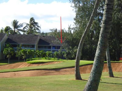 The red arrow marks the spot for 'The 19th Hole' on Fazio Golf Course
