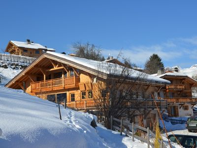 Photo for Chalet standing 18/20 pers Combloux Mont Blanc view