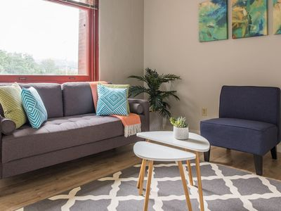 Photo for Bright 2BR Apt w/ Parking on Allegheny River