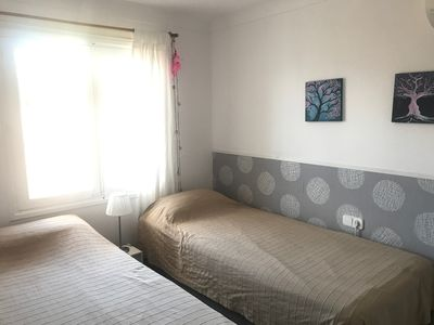 Photo for Apartment with large balcony 3 minutes walk to the beach