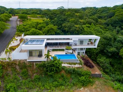Photo for Spectacular, ultramodern villa w/ a private pool, pool spa, & ocean view!