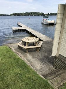 Photo for Lake George cottage with lake frontage & pier
