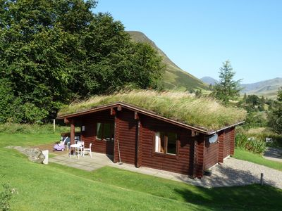 Photo for Log Cabin with Hot Tub | Sleeps 4 | In the Cairngorm National Park | Accepts Dogs