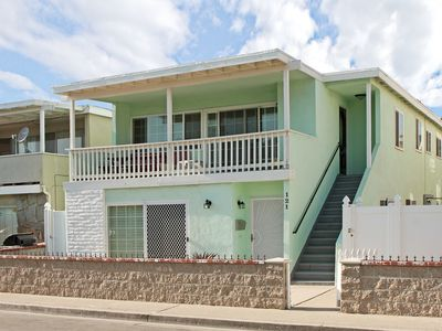 Photo for Lower Beach Duplex, Steps from the Sand, Large Patio, BBQ, Parking!