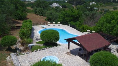 Photo for Beautiful 3 bedroom trullo with 2 bathrooms, large pool and hot tub