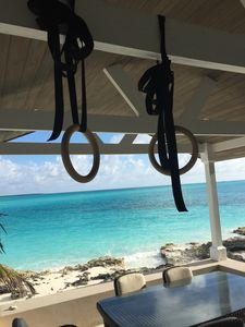 Workout on the water. Closest house to the ocean on TarBay
