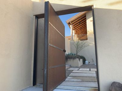 Donald Judd inspired Entry Door from parking area