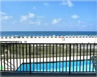 Picture Perfect Gulf Front View Overlooking Pool