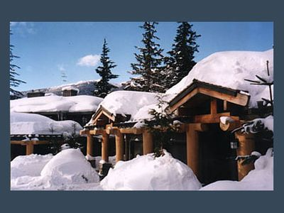 Photo for Enchanting mountainside Ski In/Out french lodge style home  Hot Tub + Firewood
