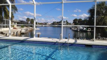 5 minute Walk to the Beach!! Waterfront home w/pool and dock