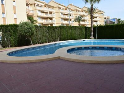 Photo for Classic and comfortable apartment  with communal pool in Denia, on the Costa Blanca, Spain for 3 persons