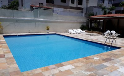 Photo for Comfortable-400 m Enseada-Guarujá Beach R. Acre-Pool / Barbecue-1 place