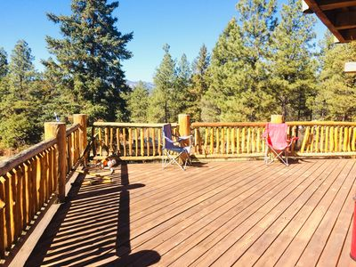 Photo for Beautiful amazing views newly built home quiet large wraparound deck