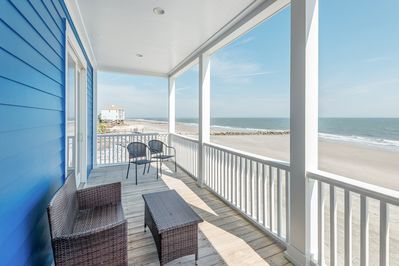 Porch - Welcome to Folly Beach! This oceanfront gem is professionally managed by TurnKey Vacation Rentals.