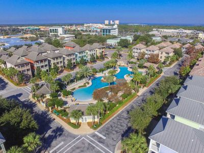 Arial View of Resort Style Lagoon Pool