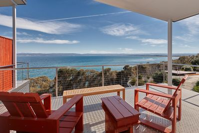 You will not want to leave this sundeck, enjoy relaxing watching this view