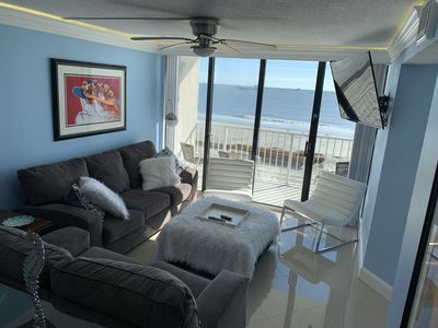 Photo for Ocean front, renovated luxury. Best in building.  Indoor outdoor pool & jacuzzi!