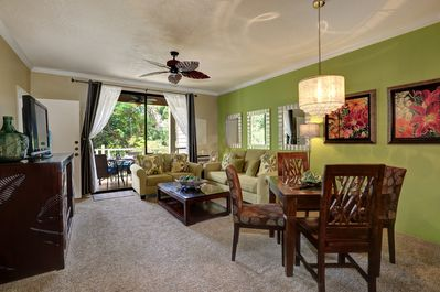 Walk out to Private Double Size Lanai.  Stylish Modern Furnishings