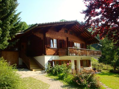 Photo for Spacious chalet with spacious garden on southern slope above Küblis - Klosters / Davos