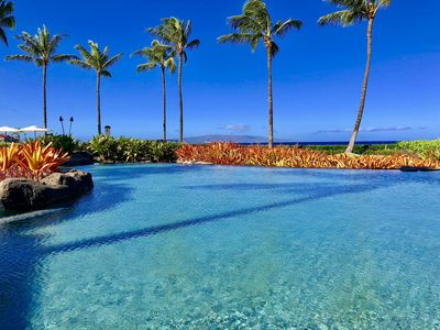 The Serene Natural Adult Quiet Oceanside Pool & Spa at The Beach Villas