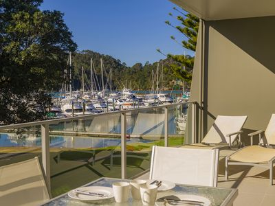 Photo for Marina Views, 2 bedroom apartment, views over the Marina and Pohutukawa trees