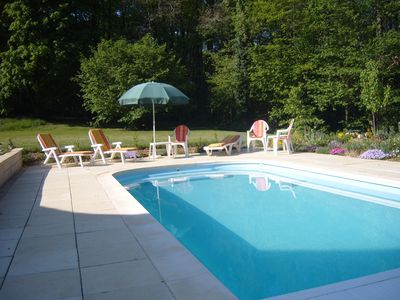 Pool is set within nearly 4 acres of lovely gardens and grounds