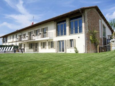 Photo for Beautiful villa with pool in the heart of the Langhe, surrounded by vines
