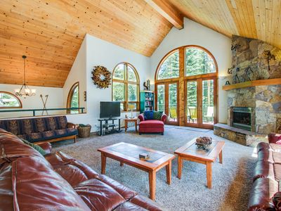 Photo for Gorgeous lakefront escape with fireplace, close to skiing