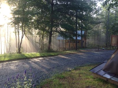 The bunkhouse early summer morning
