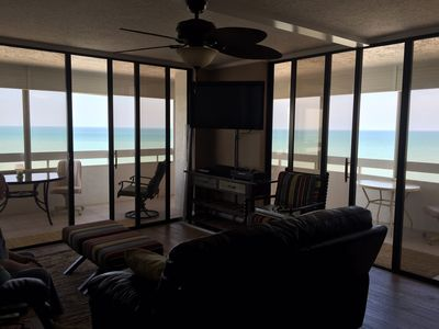 Photo for Exclusive Corner Unit with Gulf view, beachfront!
