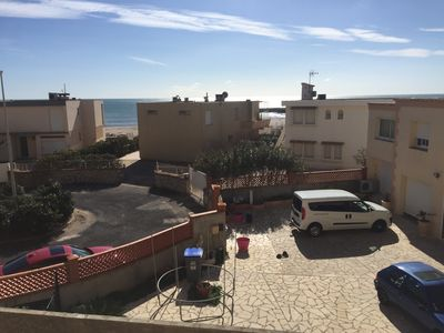 Photo for Superb apartment 70m2 with sea views in VALRAS BEACH