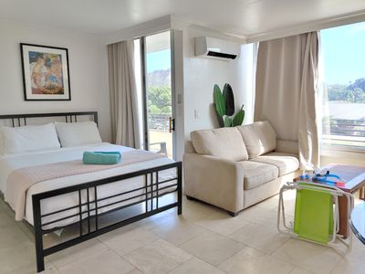 Photo for Amazing Deal for Queen Bed, Balcony, Kitchenette! (Waikiki Grand)