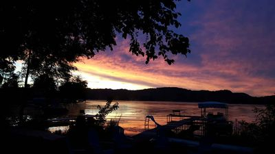 Photo for STUNNING 4 BR HOME ON BEAUTIFUL SUNSET BAY LAKE WI