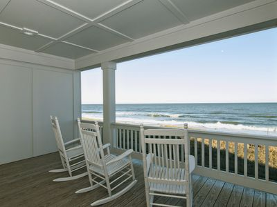 Photo for Upscale oceanfront duplex close to the aquarium and pier