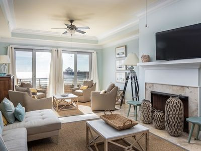 Photo for Oceanfront Luxury 4 BR/4.5BA BEACHFRONT By Pier, Free Wifi!