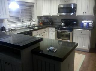 Granite counter tops and all the conveniences of home.