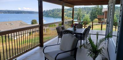 400 sq ft deck with great views of Holmes Harbor