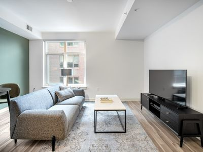Photo for Mod Mount Vernon 1BR w/Gym, Pool, Rooftop, nr. Metro, by Blueground
