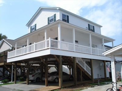 Large Covered Deck for your outdoor enjoyment that wraps around the house.