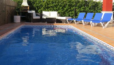 Photo for Superb detached beautifully furnished villa with private salt water pool